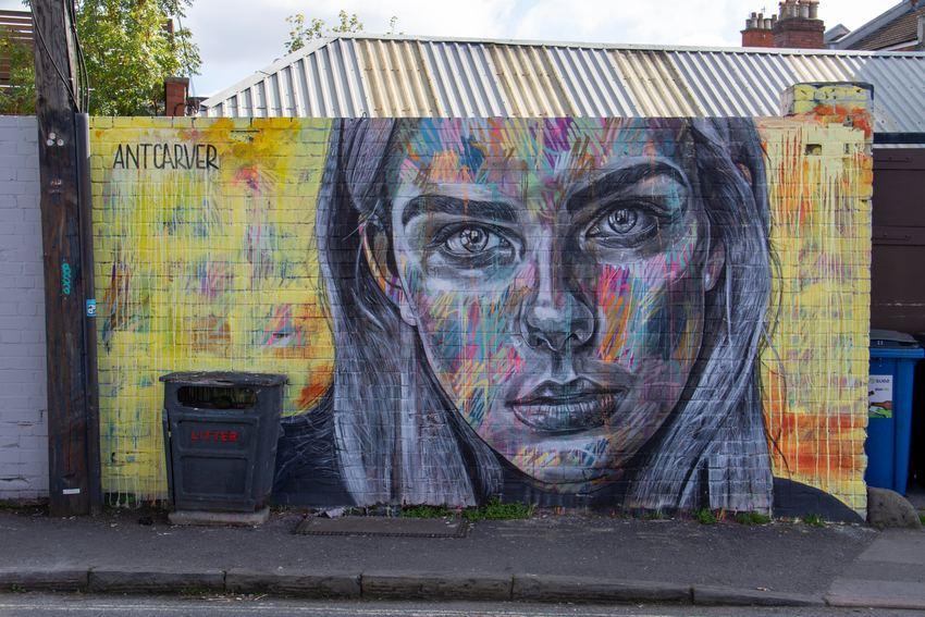 Portait peint sur un mur