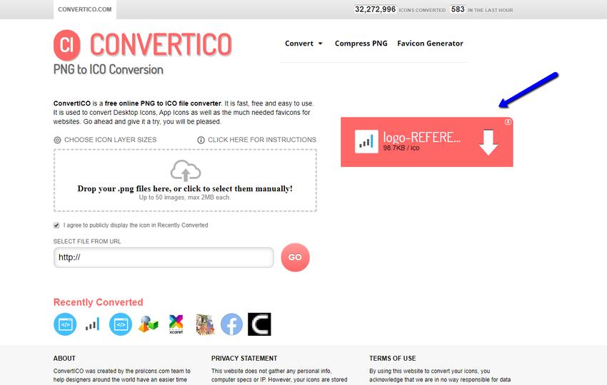 Outil Convertico pour .ICO